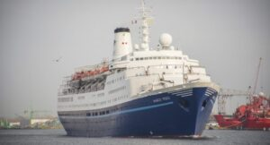 Marco polo cruise ship has arrived to Alang India